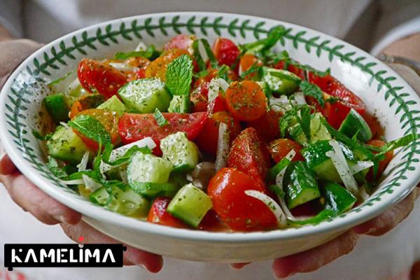 روش و طرز تهیه سالاد سبزیجات خام سالم