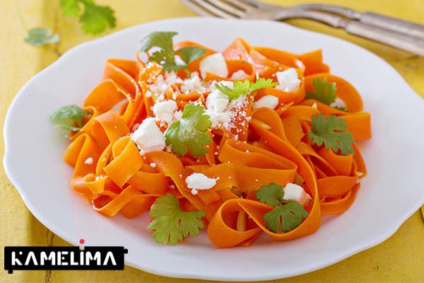 سالاد هویج با روغن زیتون و لیمو